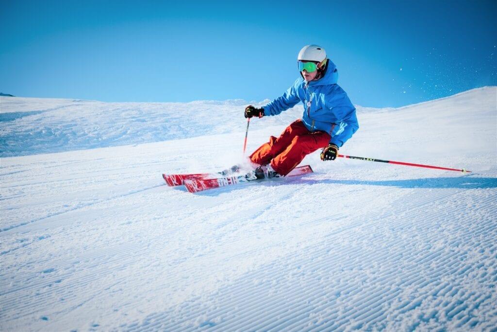 Man Skiing On Hill outdoor winter activities